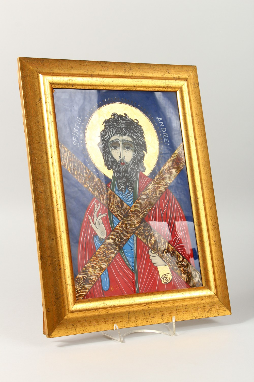 Lot 1732 - SAINT ANDREI. D97, behind glass. 11ins x 8ins.
