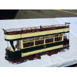 Lot 39 - VERY DETAILED SCRATCH BUILT TRAM CAR MODEL , LARGE SCALE OPEN TOP BCT FORWARD TRAM WITH MOTORS,