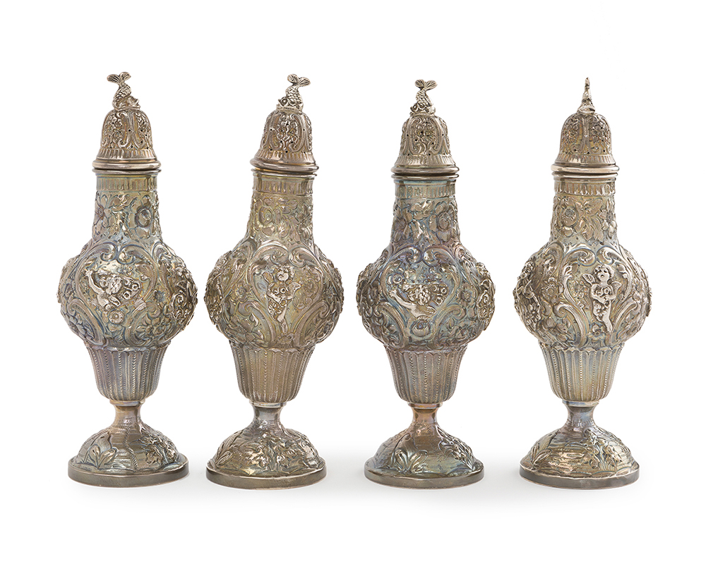 Lot 1230 - A group of four salt shakers