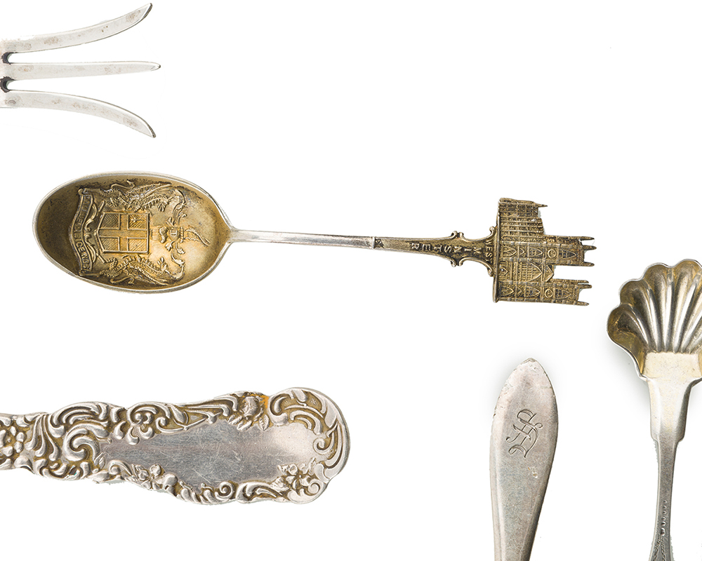 Lot 1396 - A group of miscellaneous flatware