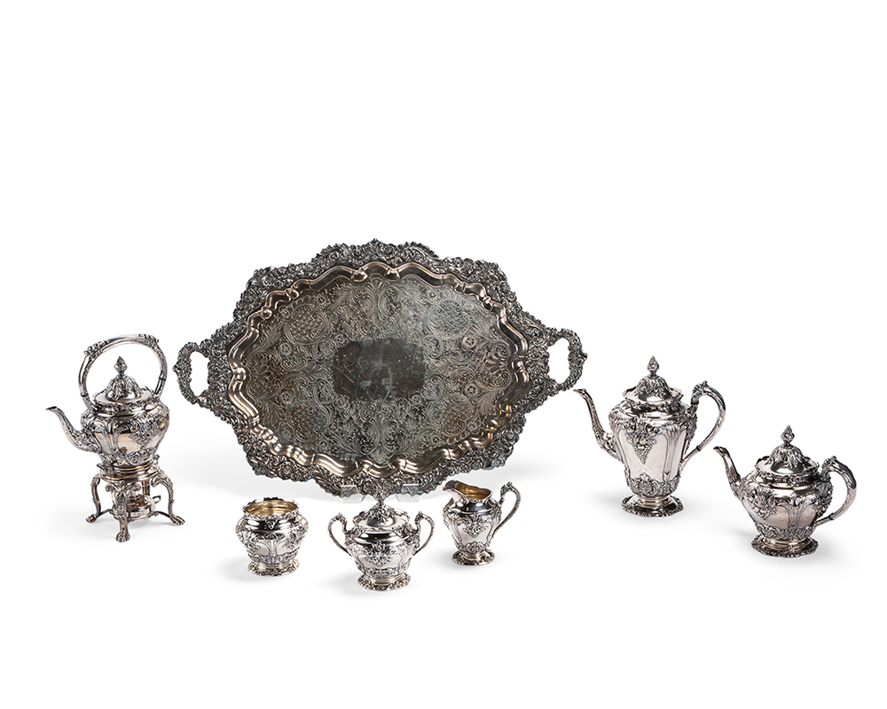 Lot 1405 - A Reed & Barton ''Renaissance'' silver plated tea/coffee service