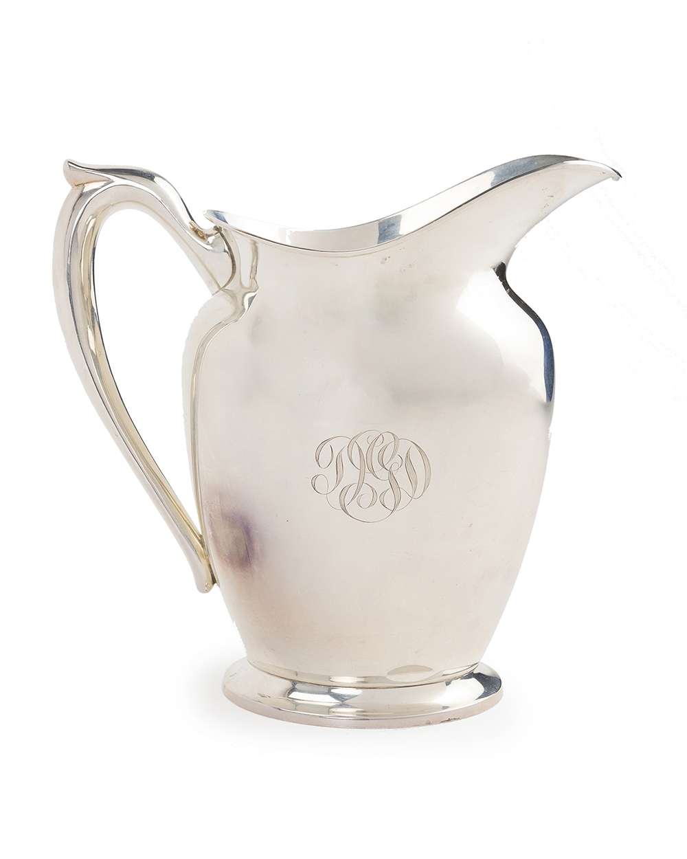 Lot 1102 - A sterling handled water pitcher