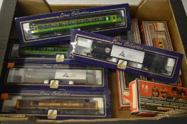 Various Lima OO gauge carriages and a diesel locomotive