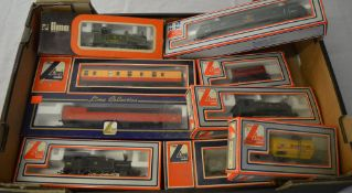 Boxed Lima OO gauge locomotives and carriages/wagons