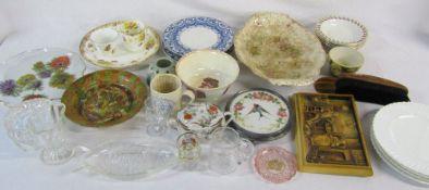 Assorted ceramics and glassware etc inc Hope & Faith bowl