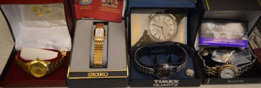 Boxed wristwatches including Timex and Accurist