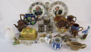 Various ceramics and glassware inc Wedgwood,