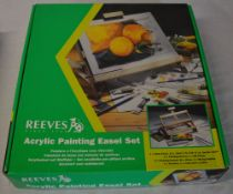 Reeves acrylic painting easel set,