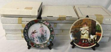 8 Lena Liu's Hummingbird treasury collection plates,