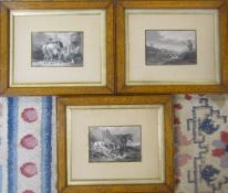 3 framed sporting prints 32 cm x 26 cm (size including frame) & 2 further prints not shown in