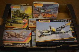 Various Matchbox model kits including Dornier Do 17 Z-2 and M16 Half track