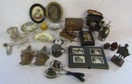 Various ceramics inc Crown Devon and Noritaki, silver plate, small photograph album,