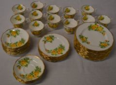 Royal Albert 'Tea Rose' part tea set including cups,