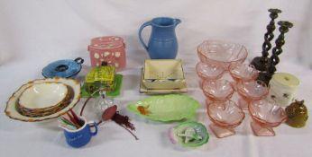 Assorted ceramics and glassware etc inc Carlton ware
