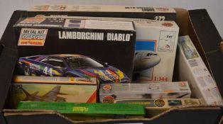 Model kits including a Majorette Lamborghini Diablo, Matchbox,