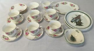 Ridgeway Queen Anne half tea comprising cups, saucers,