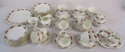 New Chelsea Staffordshire 'Pimpernel' part tea / breakfast set