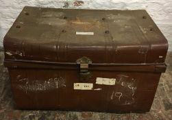 Old tin trunk