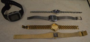 5 mixed costume watches including Seiko and Casio (AF)