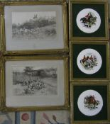 2 gilt framed Blinks sporting prints 39.