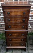 Regency style mahogany miniature chest on chest.