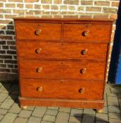 Victorian chest of drawers with replacement feet