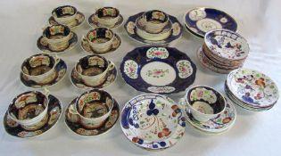Selection of Victorian part tea services (af)
