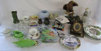 Box of ceramics inc Noritaki, Royal Doulton & Wedgwood,