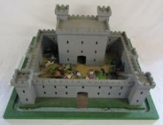 Toy fort and soldiers 61 cm x 53 cm
