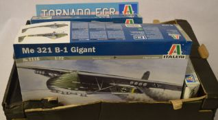 Italeri model kits including ME 321 B-1 Gigant and a Tornado
