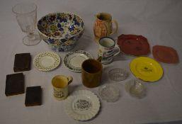 Mixed lot including ceramics, glassware,