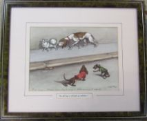 Framed O'Klein dog print 'The old boy is still full of ambition' 44.