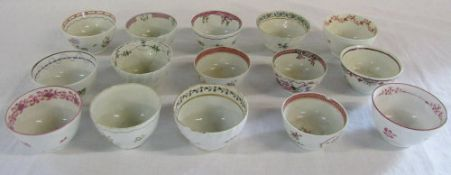 Selection of 18th/19th century Chinese and English tea bowls (af)