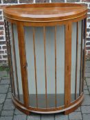 1930s bow fronted display cabinet