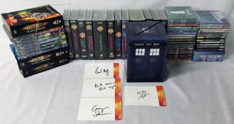 Dr Who DVDs including collectors edition box sets & and others, 4 cast member's signatures,