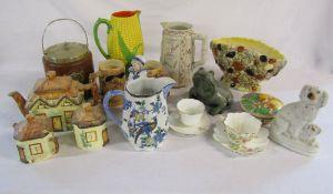 Various ceramics inc Charlotte Rhead (af), Woods,