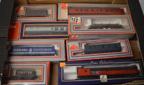 Approx 9 Lima boxed carriages and wagons