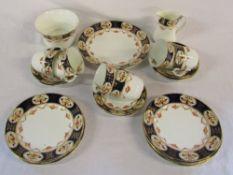 Victorian part tea set consisting of tea plate,