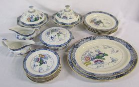 Selection of Booths 'Netherland' part dinner service inc tureens