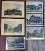 6 reproduction 18/19th century framed prints