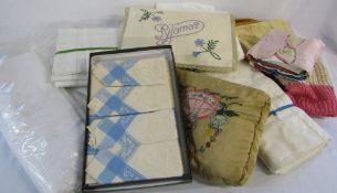 Selection of linens etc