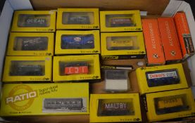 Approx 11 Trix Trains boxed wagons,