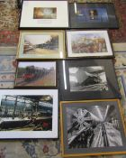 Various railway and Channel tunnel prints inc Colin Carr