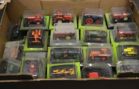 Large box of Hachett models of tractors