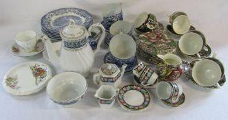 Selection of part tea services etc inc Myott (some af)