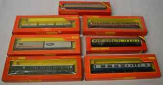 7 Hornby / Triang OO gauge boxed carriages & wagons including Ford and Road Rail