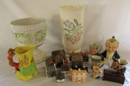 Assorted ceramics inc Wedgwood vase (af), Tony Wood and Sylvac etc