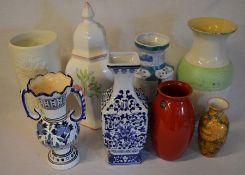8 large ceramic vases