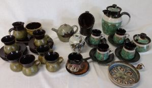 Selection of studio pottery including Jackpots of Louth and Alvingham pottery