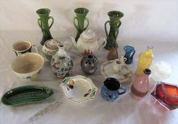 Various ceramics and glassware inc Wedgwood